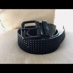 Ted Baker * Gorgeous * Black Patent Leather Belt